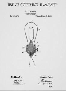 Plano de la bombilla electrica